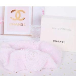CHANEL  Fleece Hairband Plush Skincare Headband